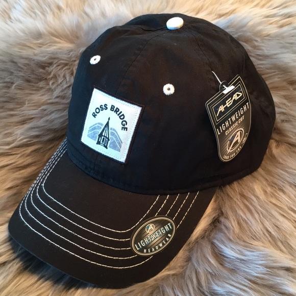NWT Golf Hat by AHead  Ross Bridge  Black One Size a8cf1d82919
